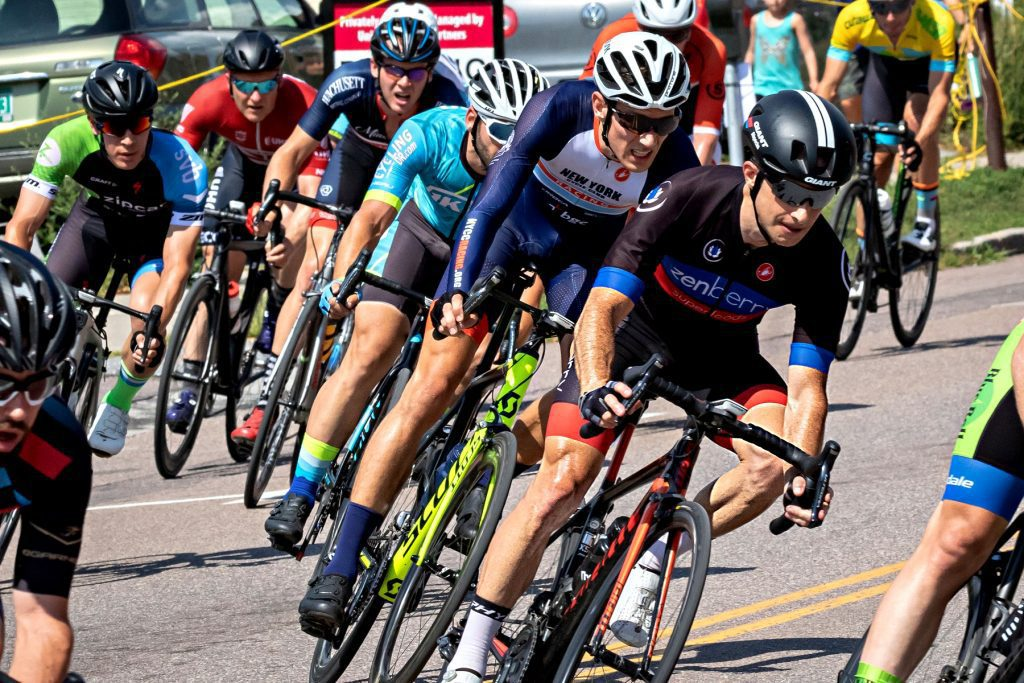 cyclist racing in a group
