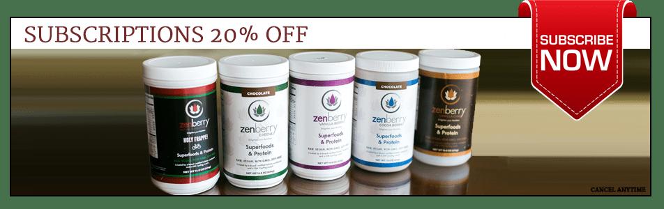 Bottles of Zenberry for Subscription